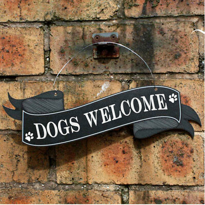 DOGS WELCOME Door sign, Pub Welcome Sign, Robust Outdoor Pets WELCOME Plaque