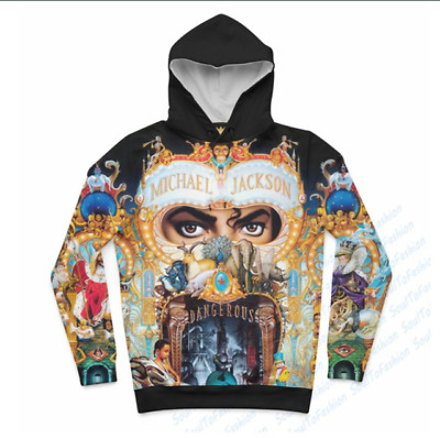 Michael Jackson Dangerous Clothes Set(Hoodie, T-shirt and Shorts)