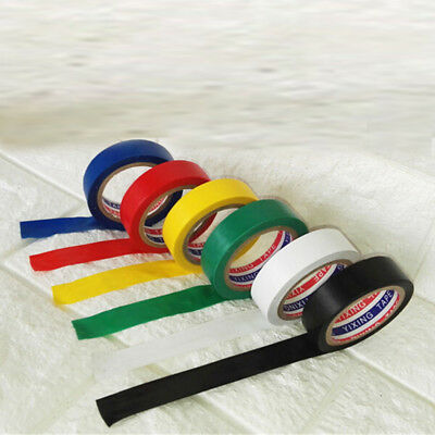 1X Electrical 18mmx10m PVC Insulation/Insulating Tape Flame Retardant 6 Color JK