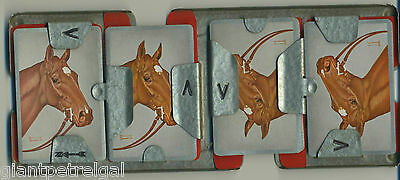SWAPS HORSE PORTRAIT PLAYING CARDS BY ALLEN F. BREWER, Jr., THOROUGHBRED RACING