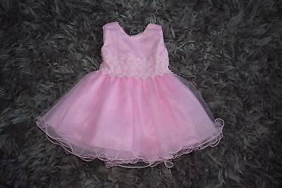 Babies baby Girls Pretty Summer Wedding Party Dress 6 to 36 Months Pink