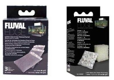 FLUVAL EDGE FILTER PACK (Contains Carbon Sponge & Bio Pack) Great Value