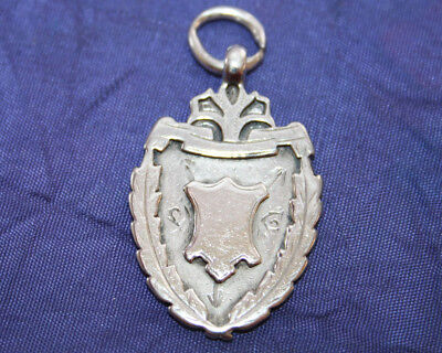 ANTIQUE SOLID SILVER WATCH FOB by WILLIAM HAIR HASELER~BIRMINGHAM 1898~VICTORIAN