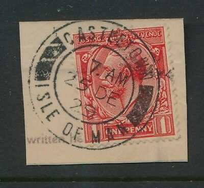 ISLE of MAN 1929 CHRISTMAS DAY CANCEL CASTLETOWN KG5th 1d