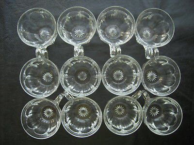 """Lot of 12 Early American Heisey Glass Co. """"Puritan"""" Punch Cups **Marked"""