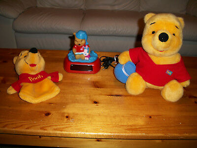 Winnie the Pooh Stuffed Animal, Hand Puppet & Fully Working Night Light & Clock