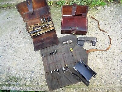 Paire Sacoches Cuir + Accessoires Outils Fm Bar Browning