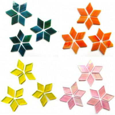 Hand-Cut Diamond Stained Glass Mosaic Tiles - In a Choice of Colours & Sizes