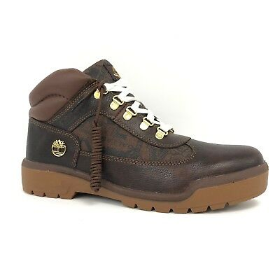 Timberland Men's Limited Football Edition Brown Smooth Leather Field Boots  A14L3