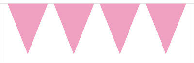 Bright Pink Flag Party Bunting 15 Flags 10M Party Decoration