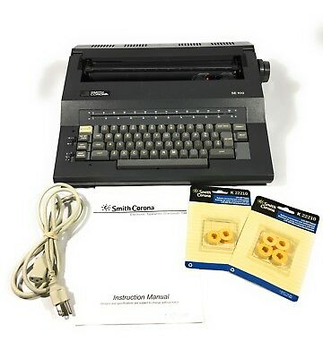 Smith Corona SE100 Electric Correction Word Eraser Typewriter With Accessories