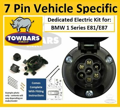 Towbar 7 Pin Wiring Kit BMW 1 Series Hatch E81 E87 Vehicle Specific Electrics