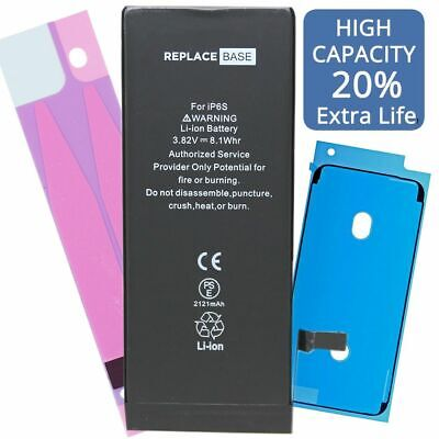 Replacement Battery For iPhone 6s 2121mAh CE Adhesive HIGH CAPACITY 20% More UK