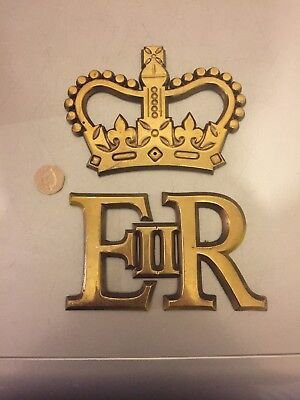 Brass E R With Crown
