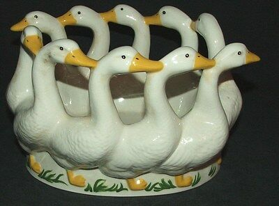VINTAGE Holland Ceramic Goose Dish~Dated 1983~VERY PRETTY~GREAT CONDITION