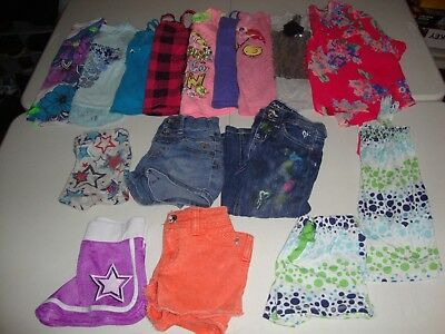 Lot Of Girls Size 6-7 Justice Brand Clothes Great For Spring Summer