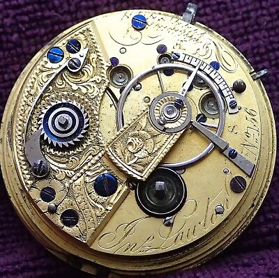 John Laughton MASSEY FUSEE Lever Pocket Watch Movement c1825 Jewelled to Fusee