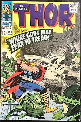The Mighty Thor Comic #132 (Marvel,1966) Silver Age