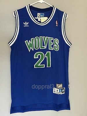 NWT Kevin Garnett  21 NBA Minnesota Timberwolves Swingman Throwback Jersey  Man 058094566