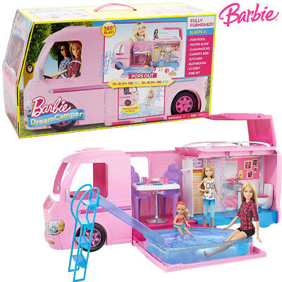 Camper dei sogni di barbie con accessori mattel fbr34 for Piscina di barbie