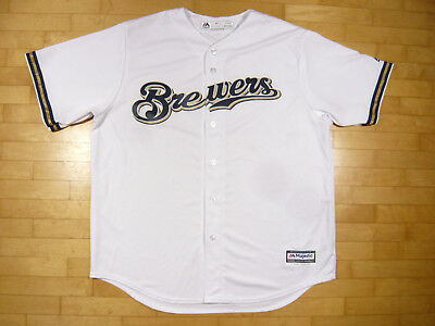 MAJESTIC MILWAUKEE BREWERS BASEBALL JERSEY | Size XL | Trikot T-Shirt MLB Hemd