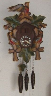 Vintage Musical One Day Wooden Cuckoo Clock 619HBM Germany Working Condition