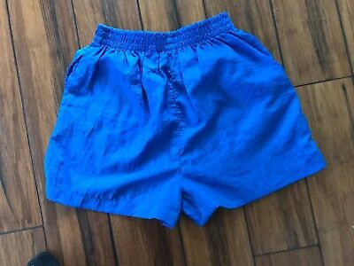Vintage 90's Aero Blue Nylon Women's shorts size Small In Excellent Condition