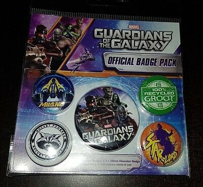 Button Badge 5er Pack GUARDIANS OF THE GALAXY VOL. 2 - Cosmic