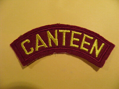 CANTEEN Patch - Nice - Not sure of age or origin ?????   4 1/4 x 3/4 - Insignia
