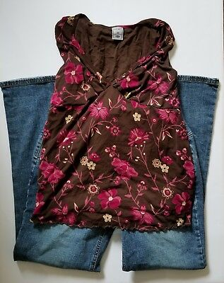 Old Navy Maternity Clothe XS Lot Blouse Top Outfit Jeans Pants Extra Small 28