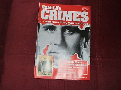 Real-Life Crimes Magazine Issue 57 Brian Donald Hume I Got Away With Murder