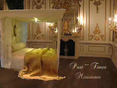 Dolls House 12th scale Bed Canopy /Tester with light ~Past ~ Times ~ Miniatures