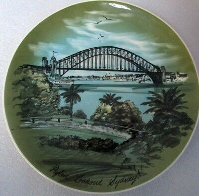 Studio Anna Hand Painted Wall Plate Pylon Lookout Sydney Australian Pottery