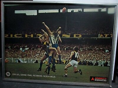 1974 Vfl Afl Grand Final Ansett Poster Richmond Tigers Vs North Melbourne