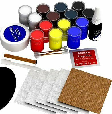 Official Leather Repair Kit 25 Piece Set Vinyl Restoration Kit - NO HEAT NEEDED