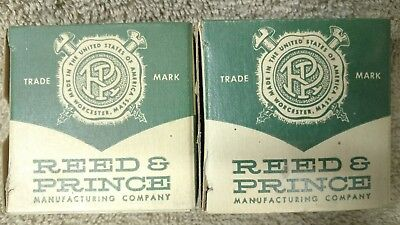 "2 NOS Boxes of Reed & prince screws - 10 x 3/4"" Brass flathead wood screws"