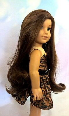 "10-11 Custom Doll Wig fit Blythe-American Girl-1/4 Size Doll ""Walnut Swirl"""
