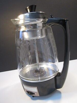 Vintage Proctor-Silex Percolator Glass Electric Working With Instructions 70503