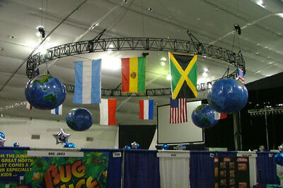 inflatable globe of the earth digitally printed 8' diameter