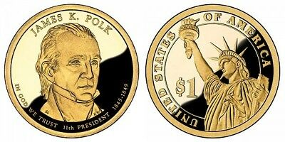 2009 S James K Polk Presidential Dollar Proof Coin