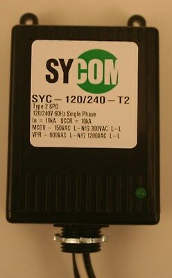 Sycom 120/240T2 Whole House Lightning and Surge Protector