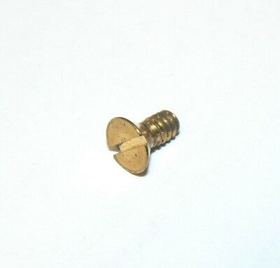 "#10/24 x 3/8"" SLOTTED FLAT HEAD SOLID BRASS MACHINE SCREWS - Lot of 100 PCS"