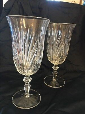 """Set Of 2 Waterford Marquis Water, Red Wine Glass Goblet, 8 1/8"""""""