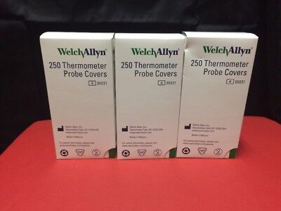 Welch Allyn SureTemp Thermometer Probe Covers Box of 250 REF:05031 NEW!