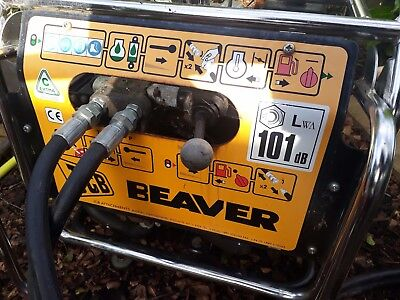 JCB Beaver breaker with hoses