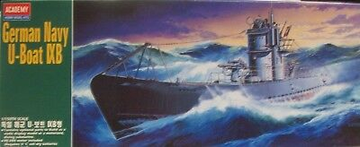 Academy German Navy U-Boat Ixb Model Kit Powered