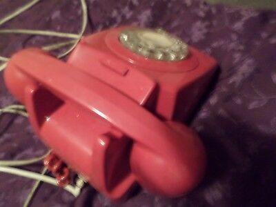 New GPO 746 Telephone - Retro Vintage Phone - Rotary Dial - British Pillar Box