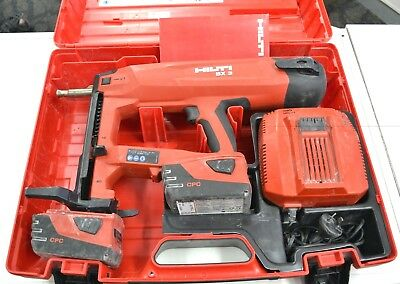 Hilti Bx 3-Me Battery-actuated fastening nail gun tool W 2 Batteries & Charger
