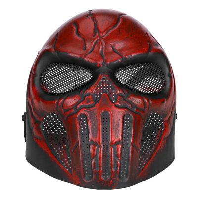 Tactical Full Face Paintball Skull Safety Protection Mask Goggles Outdoor