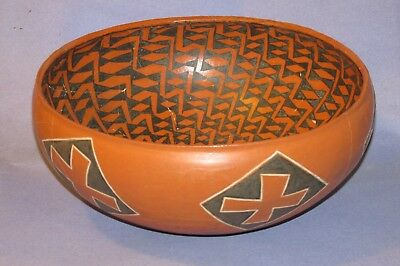 "Anasazi Pinedale Polychrome Bowl 13"" W X 5.5"" H with COA - AUTHENTIC! BEAUTIFUL!"